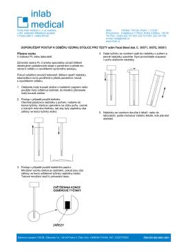 Doporučený postup při odběru vzorku stolice