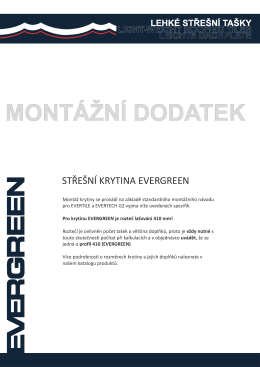 EVERGREEN - MONTÁŽNÍ DODATEK.cdr