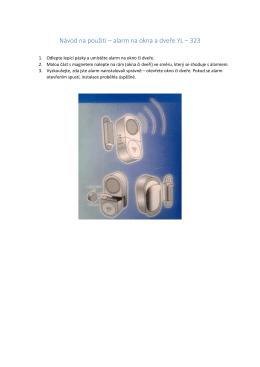 Návod na použití – alarm na okna a dveře YL – 323