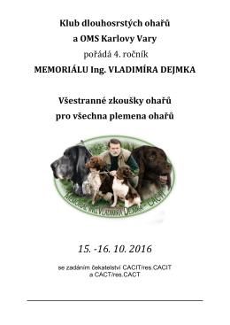 memoriálu - OMS Karlovy Vary