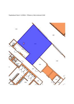 Poptávkové řízení č. 4/2016 – Příloha A, číslo místnosti 2162