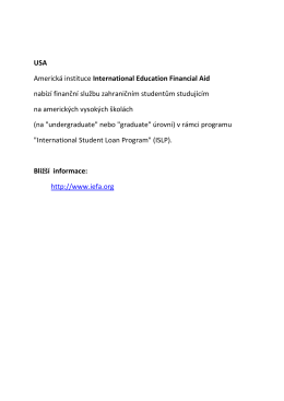 USA Americká instituce International Education Financial Aid