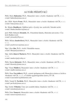 Seznam autorů / List of authors
