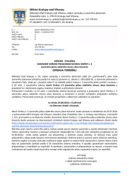 VV_oznámení veřejné projednání návrhu změny č. 3
