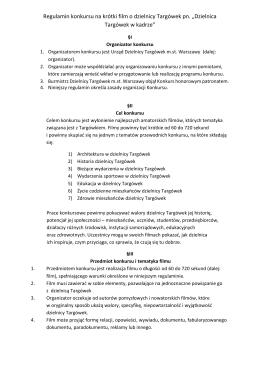 Regulamin konkursu - Urząd Dzielnicy Targówek m.st. Warszawy