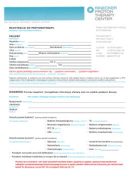 Formularz - Rejestracja w RPTC
