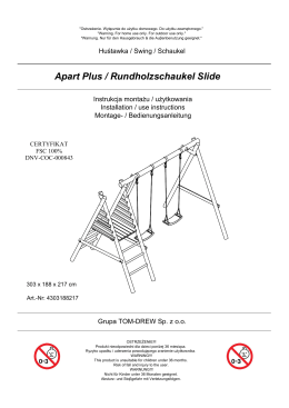 Apart Plus / Rundholzschaukel Slide