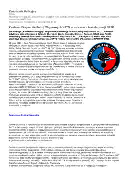Kwartalnik Policyjny Centrum Eksperckie Policji Wojskowych NATO