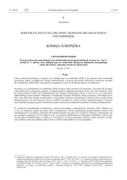 Zawiadomienie Komisji – Wytyczne dotyczące optymalizacji