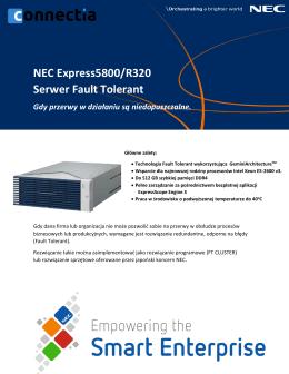 NEC Express5800/R320 Serwer Fault Tolerant