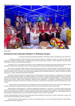 Działalność Koła Gospodyń Wiejskich w Wilkołazie