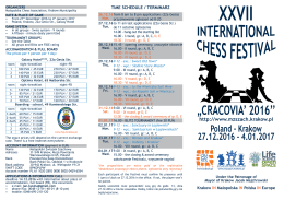 cracovia` 2016` - Chess