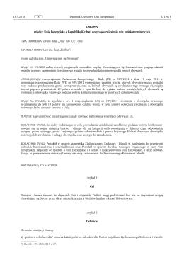 UMOWA - między Unią Europejską a Republiką Kiribati
