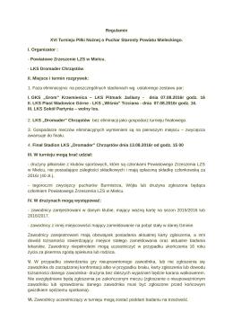 pobierz regulamin - Powiatowe Zrzeszenie Ludowych Zespołów