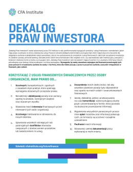dekalog praw inwestora