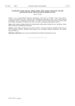 Zawiadomienie Komisji dotyczące unijnego kodeksu dobrej