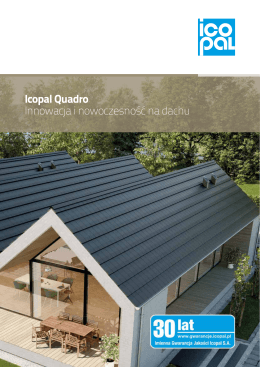 Icopal Quadro Innowacja i nowoczesność na dachu