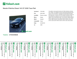 Mazda 6 Berlina Diesel 140 CP 2008 Taxa Plati