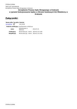 Załączniki - Sąd Rejonowy w Wieliczce