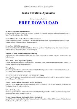 KAKO PLIVATI SA AJKULAMA Free PDF