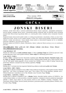 JONSKI BISERI cenovnik 1 - 2016