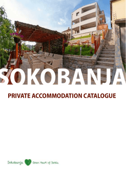 PRIVATE ACCOMMODATION CATALOGUE