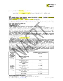 Raiffeisen BANK d.d. Bosna i Hercegovina • 71 000 Sarajevo