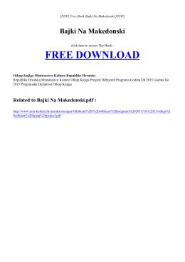 BAJKI NA MAKEDONSKI Free PDF