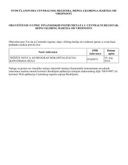 Upisana pravna lica na dan 18.08.2016. godine