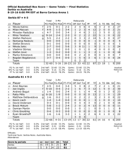 Box Score - USA Basketball