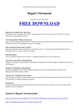 BOGATI I SIROMASNI | Free PDF
