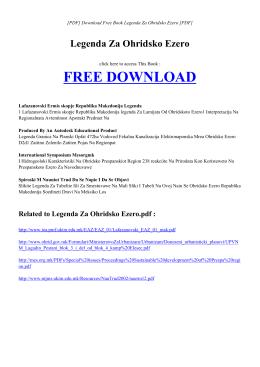 LEGENDA ZA OHRIDSKO EZERO | Free PDF