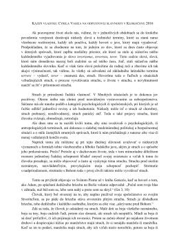 Kázeň vladyku Cyrila Vasiľa na odpustovej slávnosti v Klokočove 2016