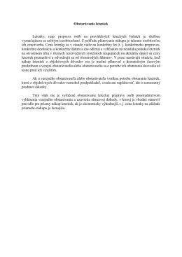Obstarávanie leteniek Letenky, resp. preprava osôb na pravidelných