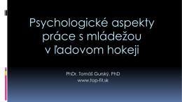 Psychologické aspekty práce s mládežou v ľadovom hokeji