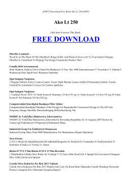 AKO LT 250 | Free PDF