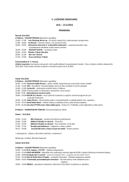 Lučenské hodvanie PROGRAM 2016
