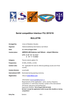 Serial competition Intertour F5J 2015/16 BULLETIN
