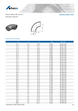 Koleno trubkové 90° norma 3 DIN 2605 svařované