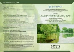jesenný kongres sots 2016 - Slovenská ortopedická a