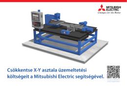 Csökkentse X-Y asztala üzemeltetési költségeit a Mitsubishi Electric