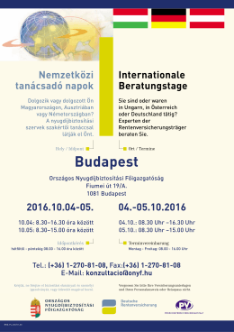 Internationale Beratungstage Budapest