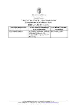 (18/2011. (VI. 30.) BM Szakanyag megnevezése Használatban