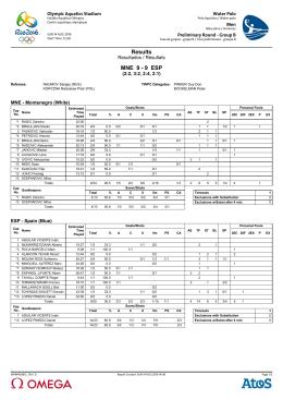 Results MNE 9 - 9 ESP