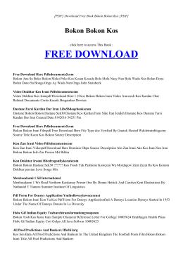 BOKON BOKON KOS | Free PDF