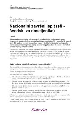 Nacionalni završni ispit (sfi - švedski za doseljenike)