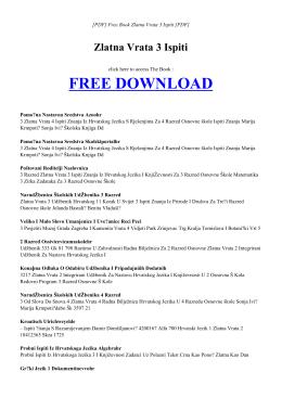 ZLATNA VRATA 3 ISPITI Free PDF