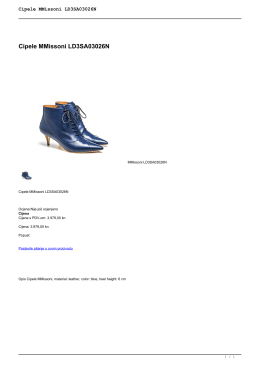 Cipele MMissoni LD3SA03026N