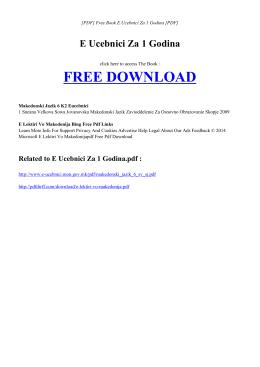 E UCEBNICI ZA 1 GODINA Free PDF