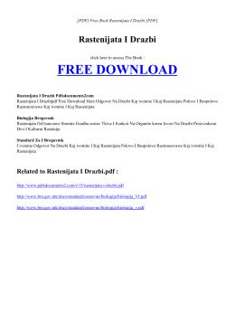 RASTENIJATA I DRAZBI Free PDF